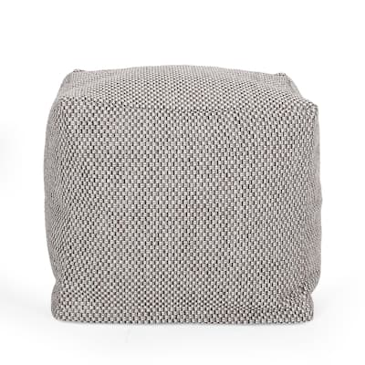 Camrose Fabric Cube Pouf by Christopher Knight Home