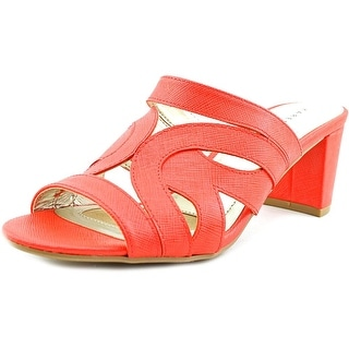 Karen Scott Daere Women Open Toe Synthetic Orange Sandals
