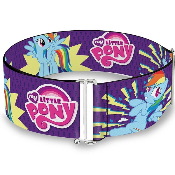 Rainbow Dash W Lightning Purple Cinch Waist Belt ONE SIZE