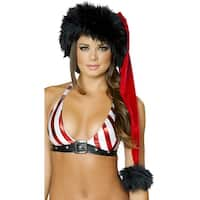 Red And Black Santa Hat, Black And Red Santa Hat - Red/black - One Size Fits most