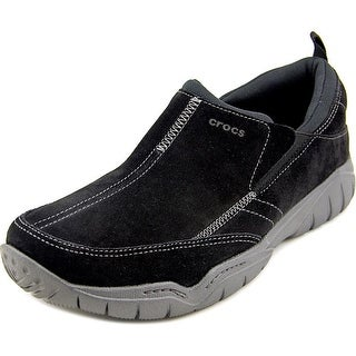 Crocs Swiftwater Moc Men Round Toe Suede Loafer