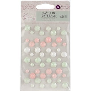 Assorted Dots 48/Pkg - Santa Baby Say It In Crystals Adhesive Embellishments
