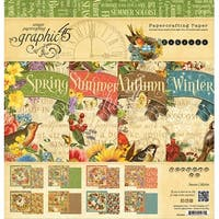 """Graphic 45 Double-Sided Paper Pad 12""""X12"""" 24/Pkg-Seasons, 8 Designs/3 Each"""