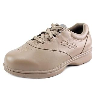 Propet Vista Walker Women N/S Round Toe Leather Brown Sneakers