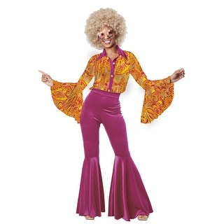 California Costumes Funky Disco Diva Adult Costume - Purple/Orange