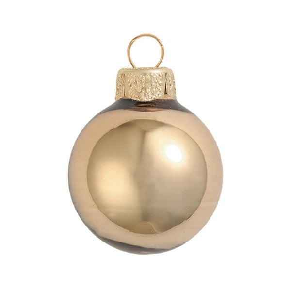 "2ct Shiny Gold Glass Ball Christmas Ornaments 6"" (150mm)"