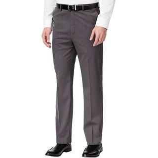 MICHAEL Michael Kors Mens Dress Pants Pindot Button-Zip Fly