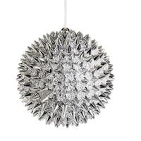 NorthLight 4 in. Silver Beaded Spiky Christmas Ball Ornament