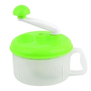 Household Plastic 3 Blades Minced Machine Vegetable Food Processor Chopper Green