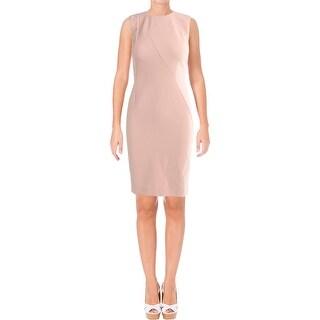 Hugo Boss Womens Demisana Wear to Work Dress Textured Sleeveless