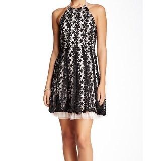 Jessica Simpson NEW Black Pink Women's 12 Crochet Sheath Dress