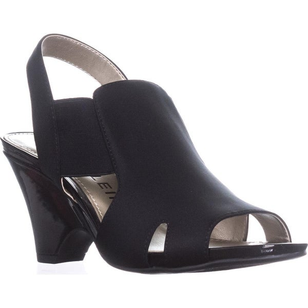 Anne Klein Grand Slingback Sandals, Black/Black - 7.5 us