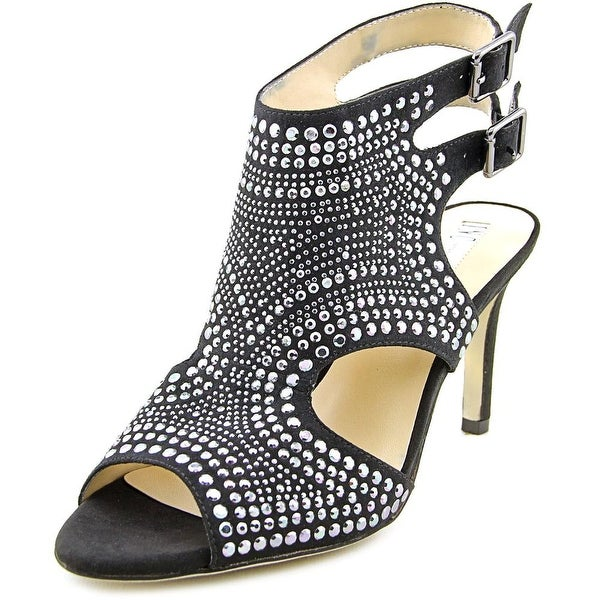 INC International Concepts Goldee 2 Peep-Toe Synthetic Slingback Heel