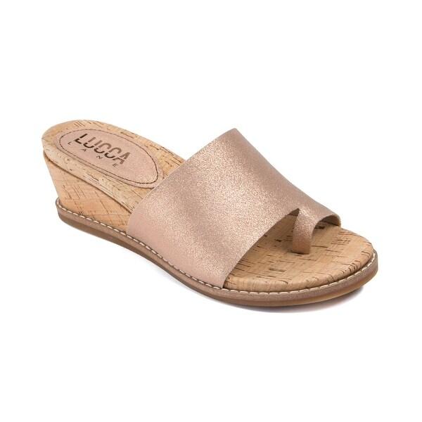 Lucca Lane Wynona Women's Sandals Brushed Rose Gold