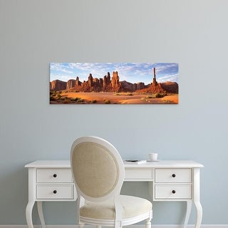 Easy Art Prints Panoramic Images's 'Monument Valley Arizona USA' Premium Canvas Art