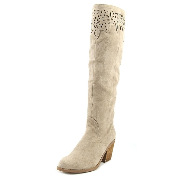 Not Rated Maddie Women Round Toe Canvas Knee High Boot