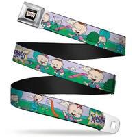 Rugrats Logo Rugrats Lil & Phil Outdoor Poses Webbing Seatbelt Belt Fashion Seatbelt Belt