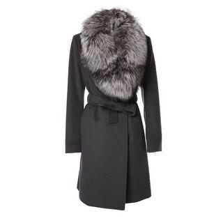 Elie Tahari Women's Wool Wrap Coat with Collar