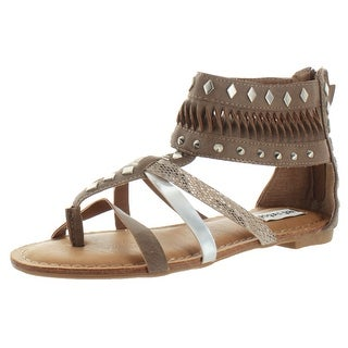 Not Rated By Naughty Monkey Lemon Twist Women's Gladiator Thong Sandals Studded