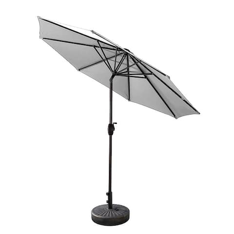 Lopes 9-foot Patio Umbrella with Bronze Base