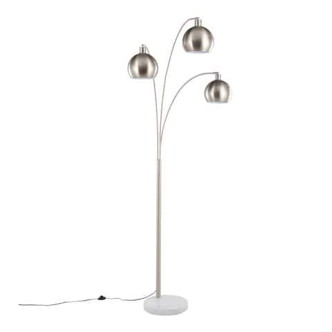 Silver Orchid Bridget 3-Light Arched Floor Lamp