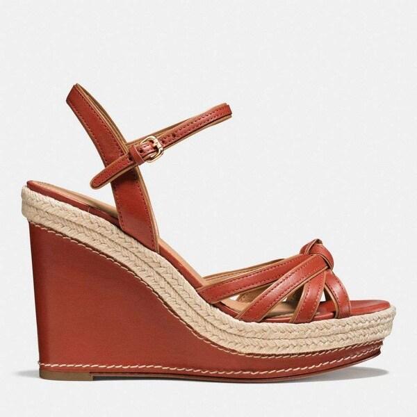 Coach Womens Dalton Open Toe Casual Platform Sandals, Ginger, Size 5.0