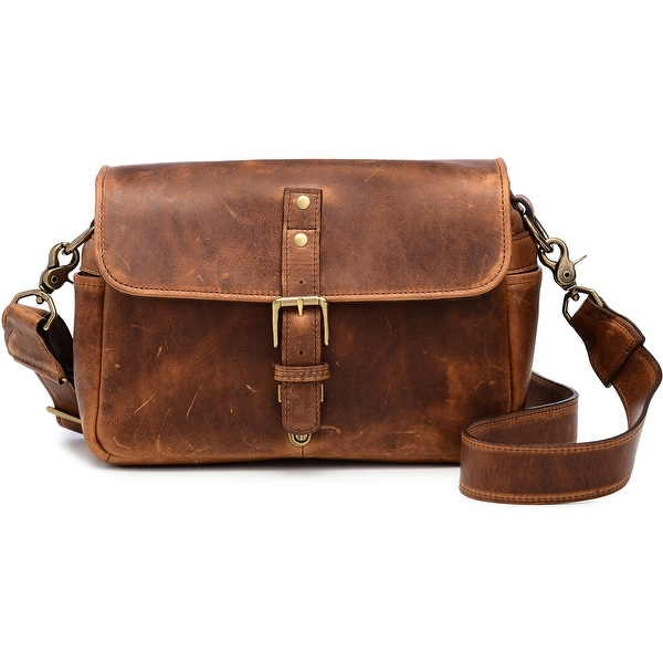 ONA Bowery Handcrafted Leather Camera Messenger Bag, Antique Cognac