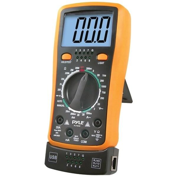 PYLE PRO PLTM40 Digital LCD AC, DC, Volt, Current, Resistance, Transistor & Range Multimeter