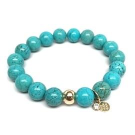 Turquoise Magnesite 'Emma' Stretch Bracelet, 14k over Sterling Silver