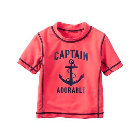 Carter's Baby Boys' Captain Adorable Rashguard, 12 Months