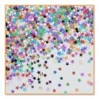 Pack of 6 Metallic Multi-Colored Star Celebration Confetti Bags 0.5 oz. - Multi