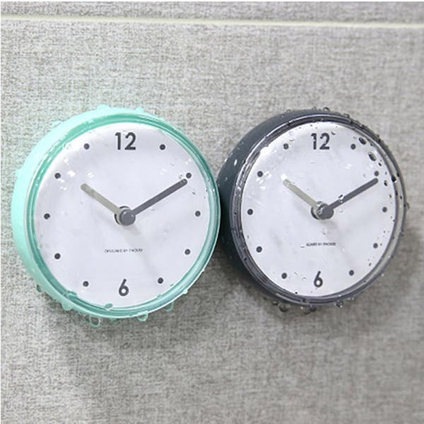 Bathroom Kitchen Waterproof Suction Cup Wall Clock Decor Shower Timer Decor Overstock 31624739