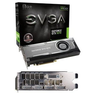 Evga 08G-P4-5170-Kr Geforce Gtx 1070 Gaming Graphics Card With 8Gb Ddr5 Pcie 3