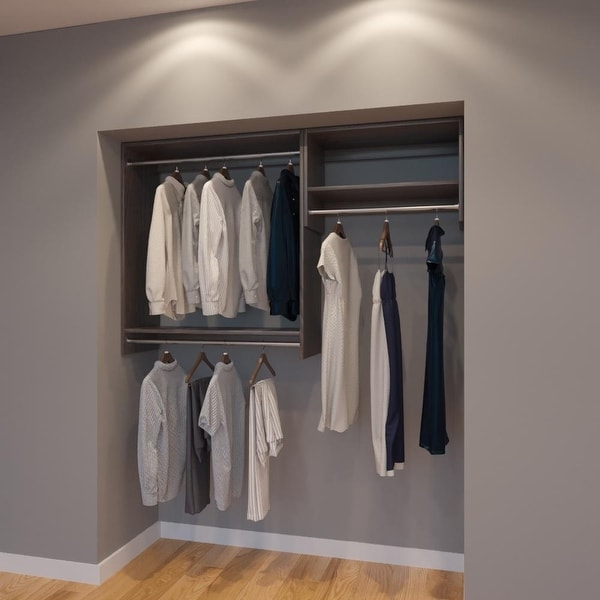 Modular Closets 5.5 FT Closet Organizer System   66 Inch   Style D