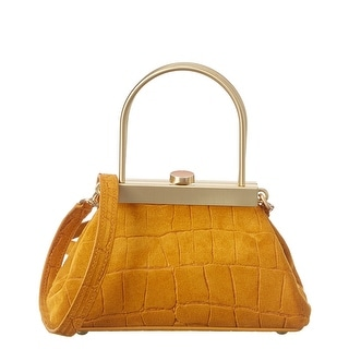 Link to Cult Gaia Estelle Mini Croc-Embossed Suede Crossbody Similar Items in Shop By Style