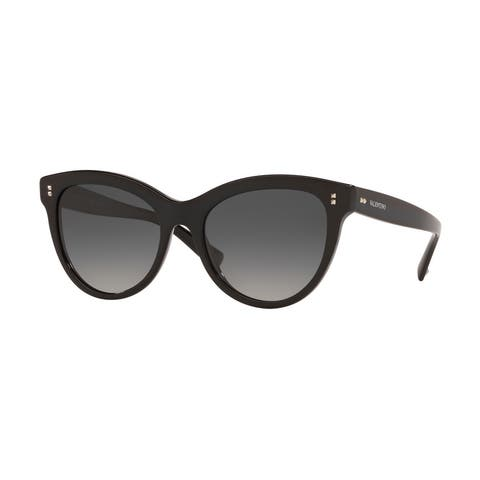 Valentino VA4013 5001T3 54 Black Woman Cat Eye Sunglasses