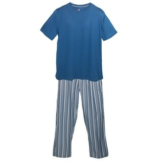 Hanes Men's Big and Tall Tee and Woven Pajama Pants Set