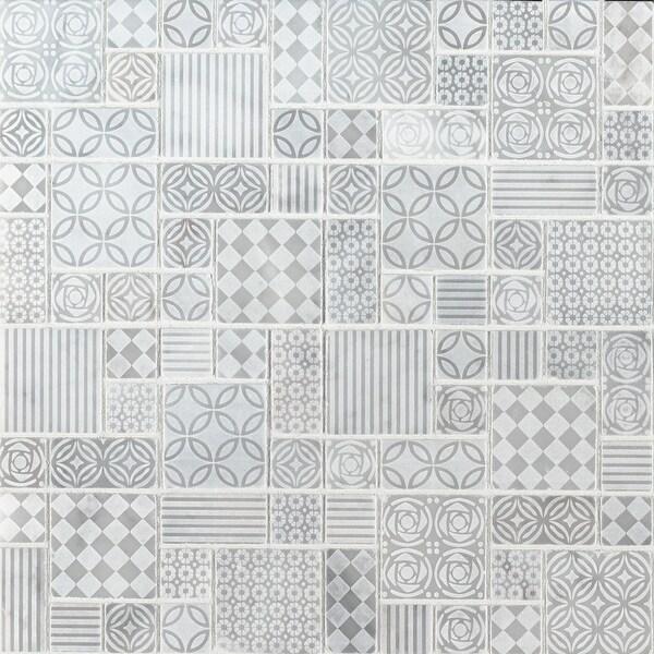"MSI SMOT-TET-10MM 11-13/16"" x 11-13/16"" Deco Mosaic Sheet - Honed Marble Visual - Sold by Carton (9.7 SF/Carton)"