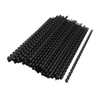 Unique Bargains 100 Pcs Plastic 0.47 Dia Binding Comb21 Rings School Office Students Stationery Black