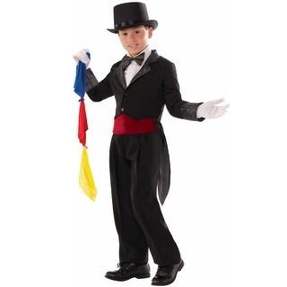 Forum Novelties Magician Tailcoat Child Costume (Medium) - Black - Medium