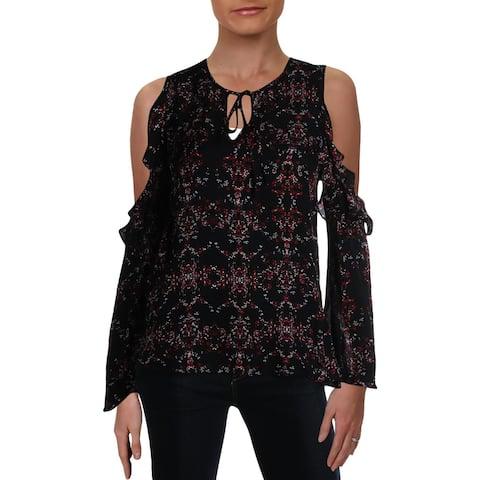 Parker Womens Blouse Silk Tie Neck - Bella - S