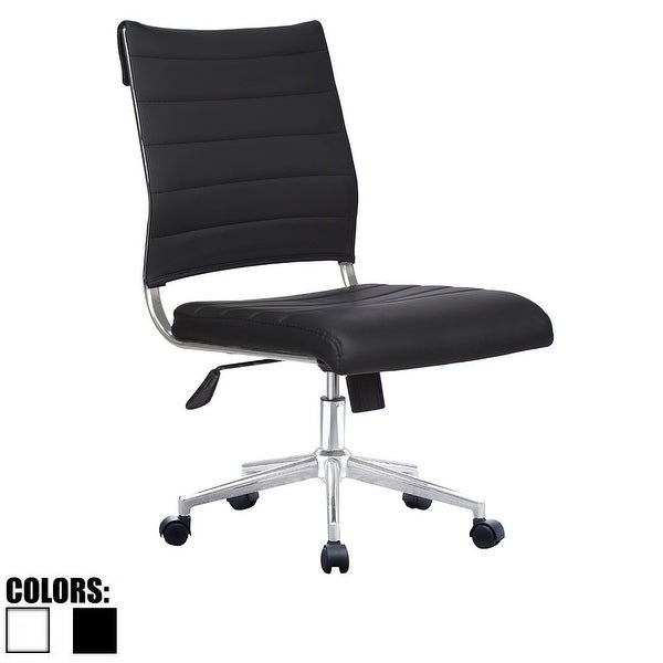 Shop 2xhome Ergonomic Executive Mid Back PU Leather Office