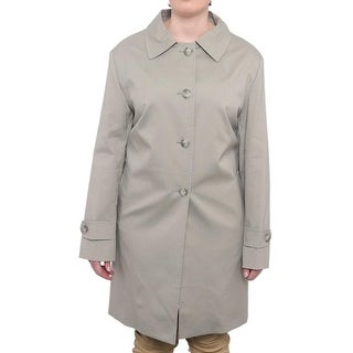 Cinzia Rocca  Back Vent Button Up Trench Coat Trench Grey
