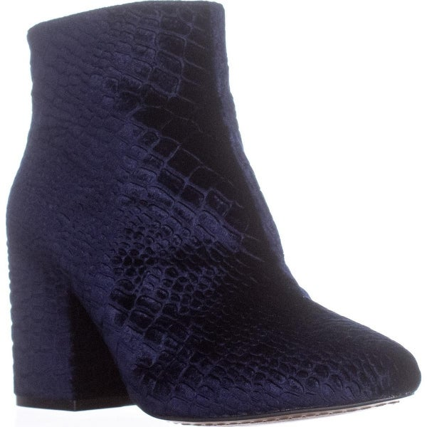 French Connection Dilyla Block Heel Ankle Boots, Navy - 7.5 us / 37.5 eu