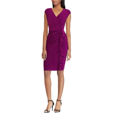 American Living Womens Ruffled Sheath Dress