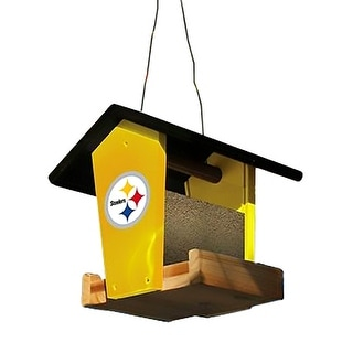 Pittsburgh Steelers Officially Licensed Wooden Birdfeeder Kit Yellow 9 X 9 X 9 Inches
