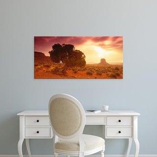 Easy Art Prints Panoramic Images's 'Monument Valley Arizona USA' Premium Canvas Art