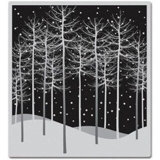 Hero Arts HA-CG471 4 x 4 in. Cling Stamps-Winter Trees