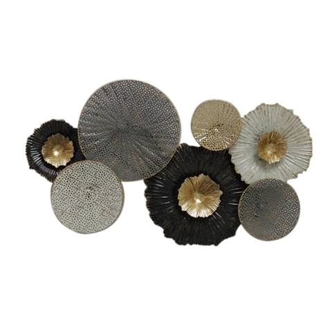 """Metal 26"""" Floral Wall Accent,Multi Wb"""