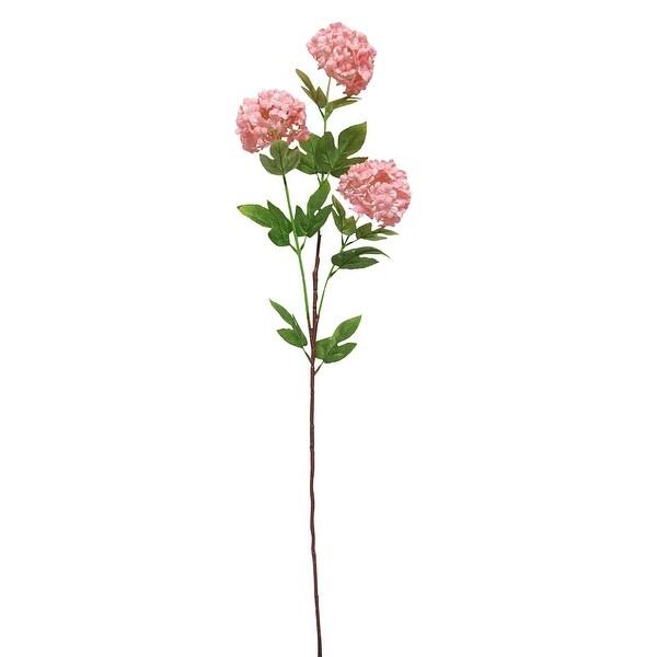 Set of 3 Snowball Hydrangea Flower Stem Spray 32in. Opens flyout.